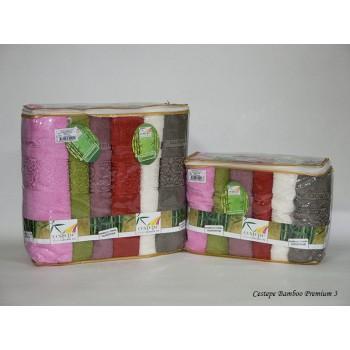 Набор полотенец для лица Cestepe Bamboo 50*90 см бамбуковые банные Premium(3) 6шт