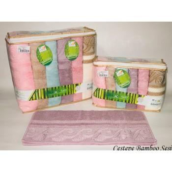 Набор полотенец для лица Cestepe Bamboo 50*90см бамбуковые банные Sesi 6шт