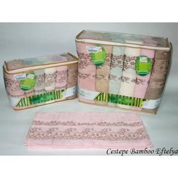 Набор полотенец для лица Cestepe Bamboo 50*90 см бамбуковые банные Eftelya 6шт