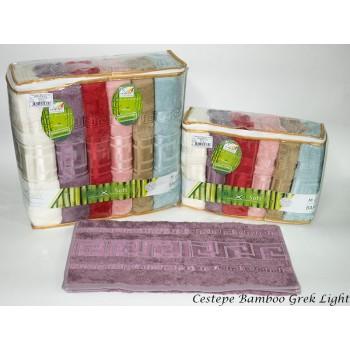 Набор полотенец для лица Cestepe Bamboo 50*90 см бамбуковые банные Grek Light 6шт