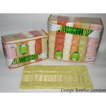 Набор полотенец для лица Cestepe Bamboo 50*90 см бамбуковые банные Santiano 6шт