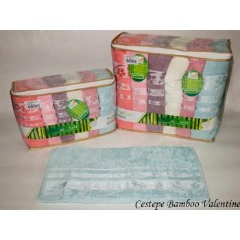 Набор полотенец для лица Cestepe Bamboo 50*90см бамбуковые банные Valentine 6шт