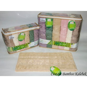 Набор полотенец для лица Cestepe Bamboo 50*90 см бамбуковые банные Kelebek 6шт
