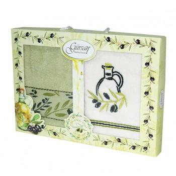 Набор полотенец для кухни Gursan Olive 40*60 см 2махровые в коробке 2шт