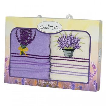 Набор полотенец для кухни Gursan Lavender 40*60 см махровые в коробке 2шт