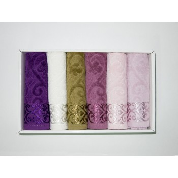 Набор полотенец для кухни Cestepe VIP Cotton Velour 30*50 см махровые в коробке рис 1 6шт