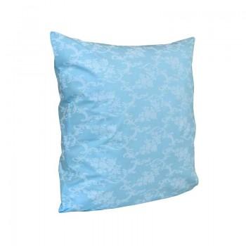 Наволочка на подушку Руно 70*70 см бязь арт.38.114Б_Блакитний вензель