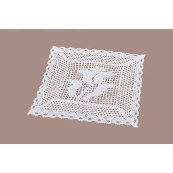 Салфетка для кухни LiMaSo 30*30 см кружевная белая арт.KOR51.30х30