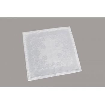 Салфетка для кухни LiMaSo 40*40 см дамаст белая арт.SRM02.40x40