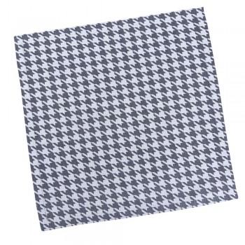 Салфетка для кухни LiMaSo 40*40 см дамаст белая с серым узором арт.SRM13.40x40