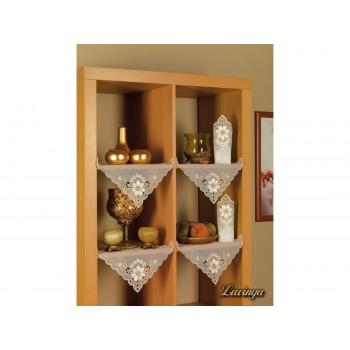 Набор салфеток для кухни Arya Kayaoglu Lavinya 28*28 см полиэстер 6шт белые арт.1154022