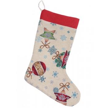 Сапожок для подарков LiMaSo Зимние развлечения 25*37 см гобеленовый новогодний арт.EDEN346-CH.25х37