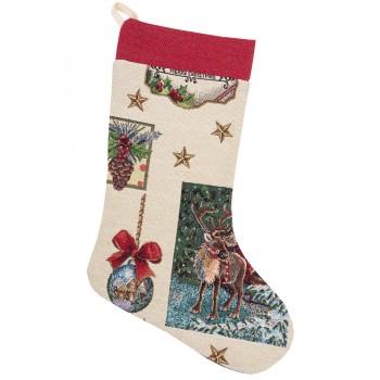 Сапожок для подарков LiMaSo Рождественские традиции 25*37 см гобеленовый новогодний  арт.EDEN535-CH.25х37