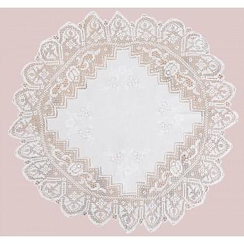 Скатерть LiMaSo 85*85 см хлопковая кружевная белая арт.DF4611.85х85