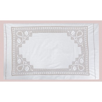 Скатерть LiMaSo 140*220 см хлопковая кружевная белая арт.DF6269.140х220