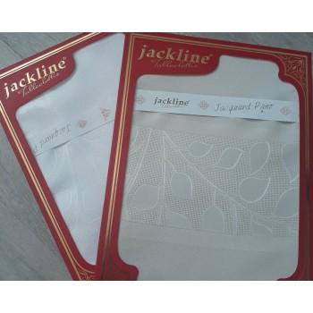 Скатерть Jackline Jacquard 150*220 полиэстер водоотталкивающая белая/молочная арт.2273