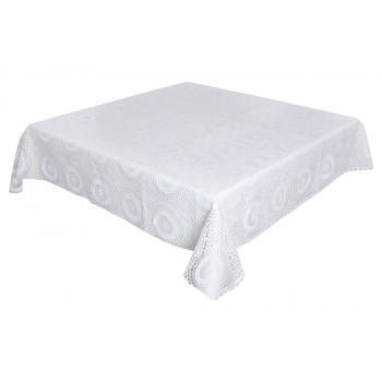 Скатерть LiMaSo 140*140 см виниловая белая арт.SKV04.140х140