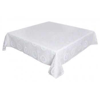 Скатерть LiMaSo 140*180 см виниловая белая арт.SKV04.140х180
