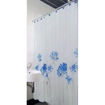 Шторка для ванной и душа Arya Blue Daisy 180*180 см арт.1353006