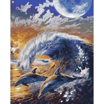 Картина по номерам ArtStory На волнах 40*50 см арт.AS0173