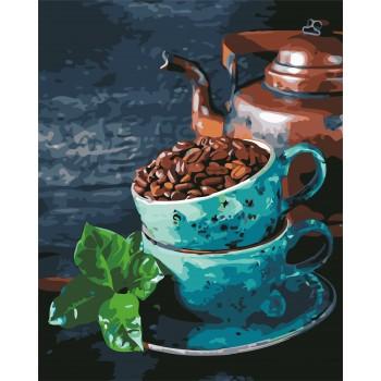 Картина по номерам ArtStory Натюрморт с кофе и мятой 40*50 см арт.AS0627