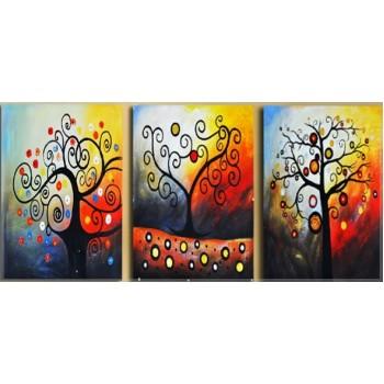 Картина модульная по номерам Babylon Дерево счастья 50*120 см 3 модуля арт.DZ259
