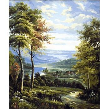 Картина по номерам Mariposa Окраина деревни 40*50 см арт.MR-Q1449