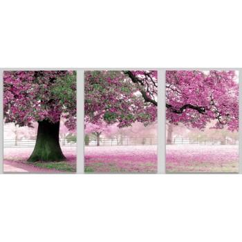 Картина модульная по номерам Babylon Весенний цвет 50*150 см 3 модуля арт.MS14028
