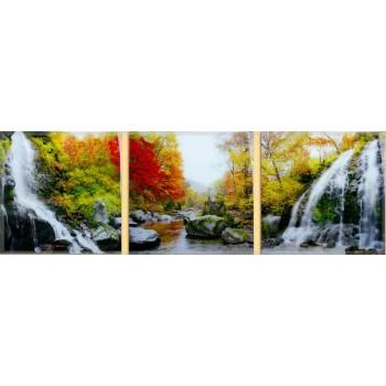 Картина модульная по номерам Babylon Водопад 50*150 см 3 модуля арт.MS14075
