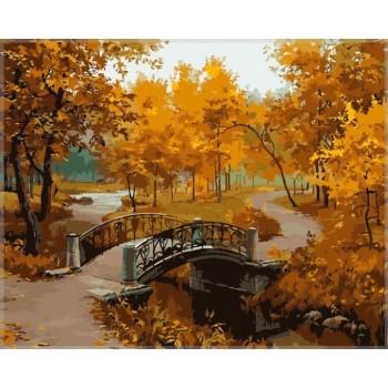 Картина по номерам Babylon Осенний парк 40*50 см (в коробке) арт.MS334