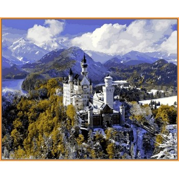 Картина по номерам Babylon Premium Замок Нойшванштайн зимой 40*50 см арт.NB1094R