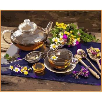 Картина по номерам Babylon Premium Чай с цветочным медом 40*50 см арт.NB1136R
