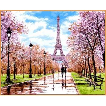 Картина по номерам Babylon Premium Апрель в Париже 40*50 см арт.NB1198R