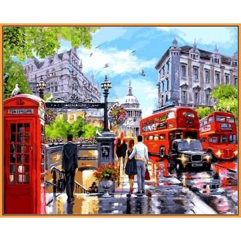 Картина по номерам Babylon Premium Весна в Лондоне 40*50 см арт.NB1242R