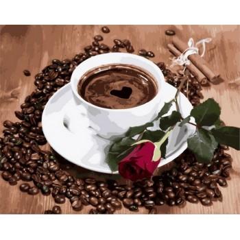 Картина по номерам Babylon Premium Приглашение на кофе 40*50 см арт.NB2096R