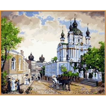 Картина по номерам Babylon Premium Андреевский спуск 40*50 см арт.NB370R
