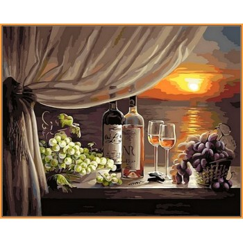 Картина по номерам Babylon Premium Вино на закате 40*50 см (в коробке) арт.NB596R