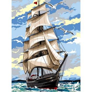 Картина по номерам Babylon На встречу ветру 30*40 см арт.VK054