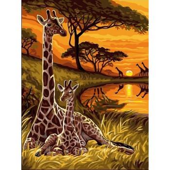 Картина по номерам Babylon Маленький жираф 30*40 см (в коробке) арт.VK128
