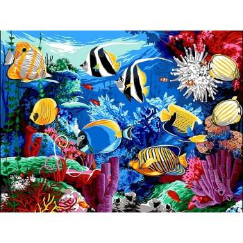 Картина по номерам Babylon Коралловый риф 30*40 см (в коробке) арт.VK190