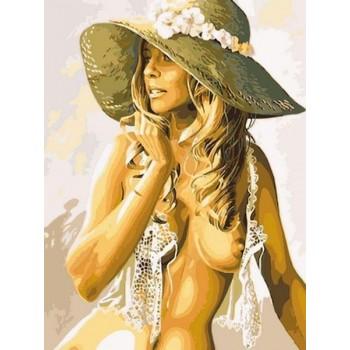 Картина по номерам Babylon Девушка в летней шляпке 30*40 см арт.VK216