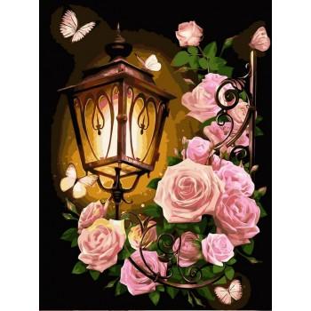 Картина по номерам Babylon Розовый фонарь 30*40 см арт.VK224