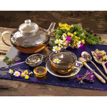 Картина по номерам Babylon Чай с цветочным медом 40*50 см (в коробке) арт.VP1136