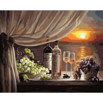 Картина по номерам Babylon Вино на закате 40*50 см арт.VP596