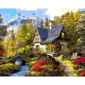 Картина по номерам Babylon Вечер в Альпах 50*65 см арт.VPS1154