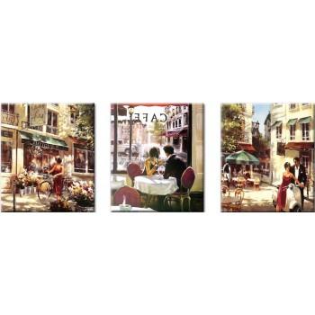 Картина модульная по номерам Babylon Летняя романтика 50*150 см 3 модуля арт.VPT001