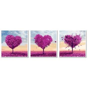 Картина модульная по номерам Babylon Деревья любви 50*150 см 3 модуля арт.VPT024