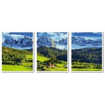 Картина модульная по номерам Babylon Альпы 50*90 см 3 модуля арт.VPT040