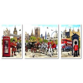 Картина модульная по номерам Babylon Очарование Англии 50*110 см 3 модуля арт.VPT045