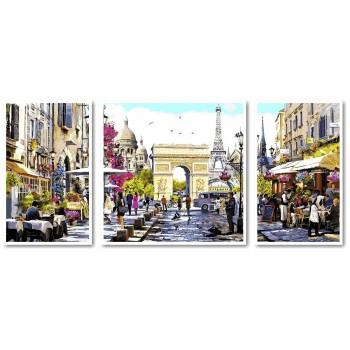 Картина модульная по номерам Babylon Весенний Лондон 50*110 см 3 модуля арт.VPT046